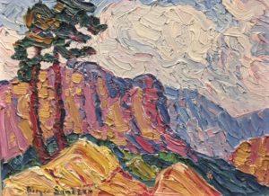 1921c  Rockies Study  board  9 x 12 a