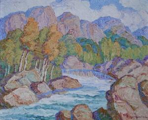 1940  Mountain Stream, Boulder Colo  board  20 x 24