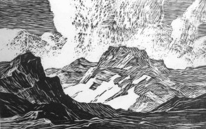 B003 In the Heart of the Rockies 1916 woodcut