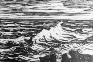 B005 After the Storm - 2nd state 1916 woodcut