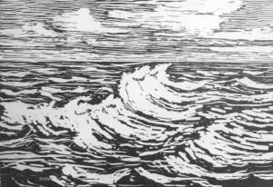 B006 Summer Breeze - 2nd state 1916 woodcut