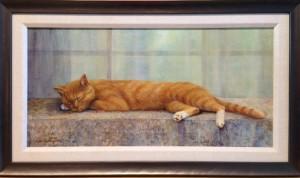 Forsberg Maleta  Cat Nap  acrylic  12 x 24