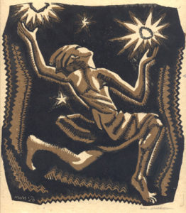 Heller Helen West Prairie Child woodcut
