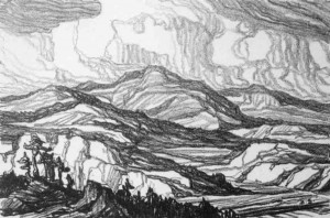 L003  In the Mountains  1916  lithograph