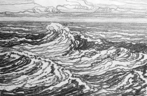 L013  Waves  1917  lithograph
