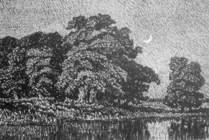 L016  Twilight  1917  lithograph