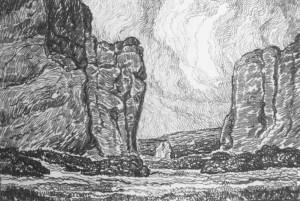L036 The Gateway 1919 lithograph