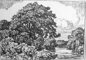 L088  The Friendly Stream  1923  lithograph