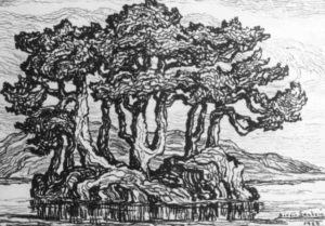 L098 The Little Island 1924 lithograph